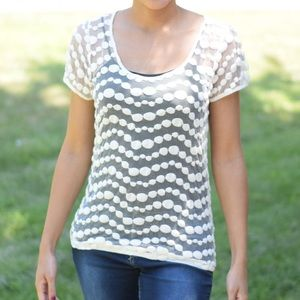 The Limited: Beige Lace top Pattern